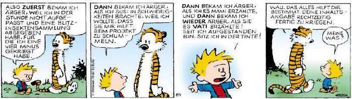 Calvin vom 28.08.2018
