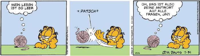 Garfield vom 31.07.2018