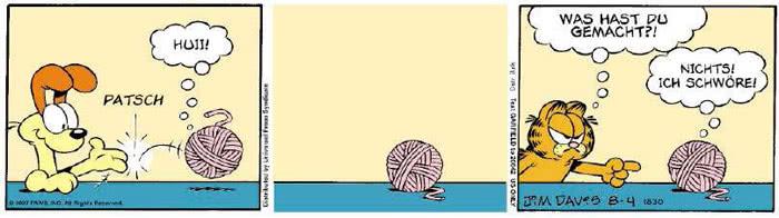 Garfield vom 07.08.2018